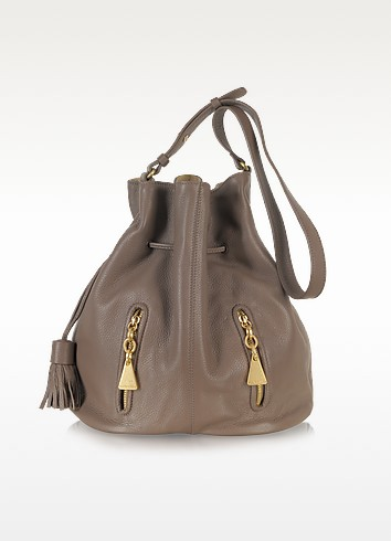 Taupe Leather Bucket Bag - See by Chloé