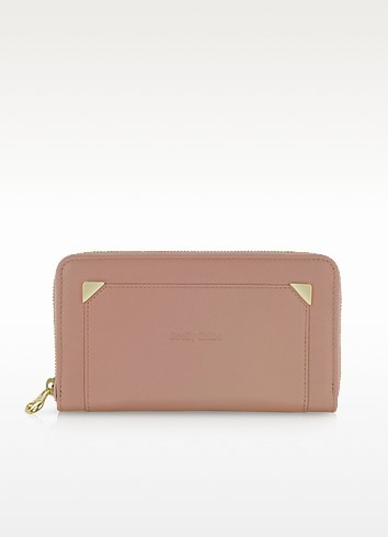 Zip Leather Continental Wallet - See by Chloé