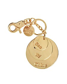 SBC Medallion Round Keychain - See by Chloé