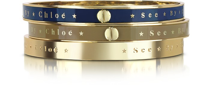 Set Of 3 Bangle Bracelets - See by Chloé