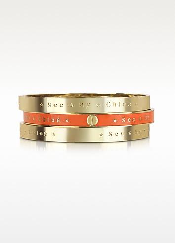 Set Of 3 Bangle Bracelets - See by Chloé