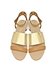 June Sandals in Sand Leather - See by Chloé
