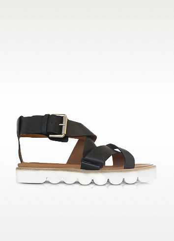 Black Leather Sandal - See by Chloé