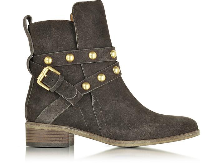 Janis Dark Grey Suede Boot - See by Chloé