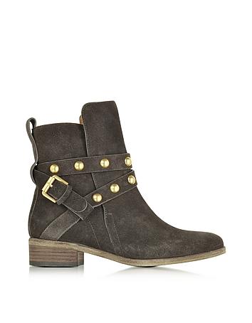 Janis Dark Grey Suede Boot
