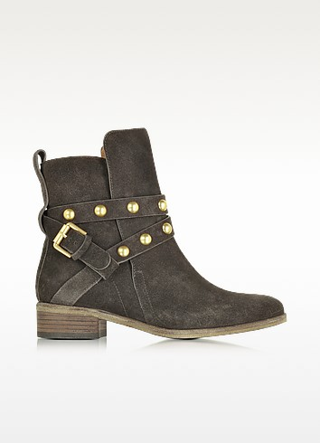 Janis Dark Grey Suede Boot - See by Chloé