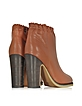 Jane Rust Leather Ankle Boot - See by Chloé
