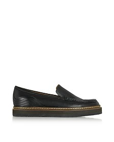 Black Leather Platform Loafer  - See by Chloé