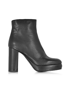 Black Leather Platform Boot - See by Chloé