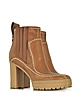 Cuoio Leather High Heel Ankle Boots - See by Chloé