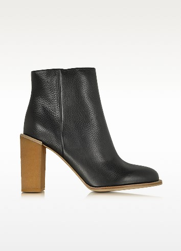 Black Leather Ankle Boot - See by Chloé