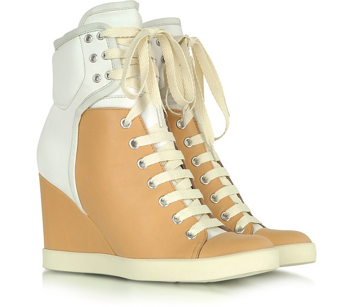 Two Tone Nabuk Sneaker Wedge - See by Chloé