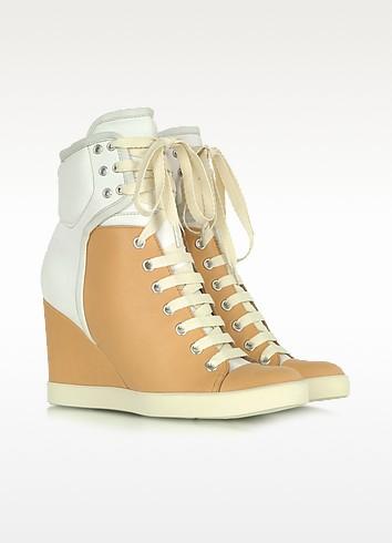 Two Tone Nabuk Sneaker Wedge - See by Chloé