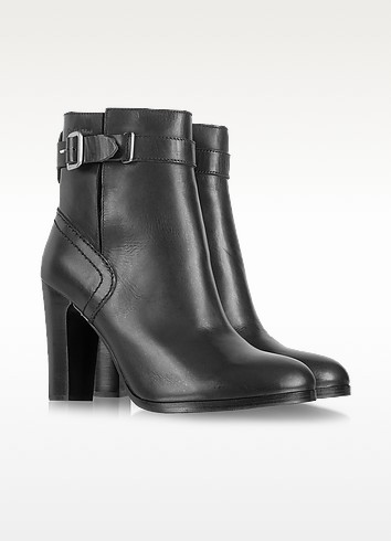 Black Leather Ankle Boots - See by Chloé