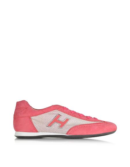 Foto Hogan Sneaker Low Top in Suede Rosa Corallo Scarpe