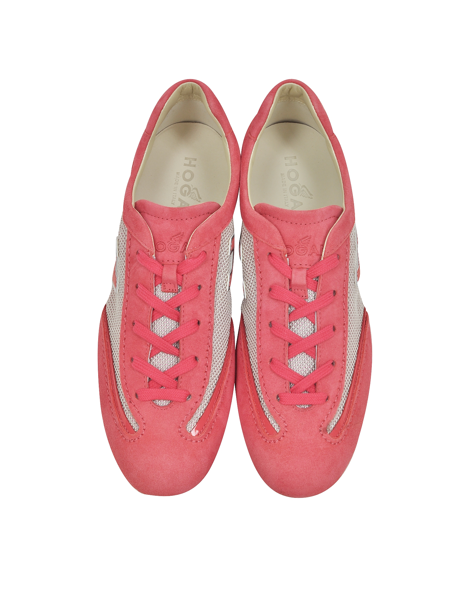 Olympia Pink Suede and Fabric Sneaker от Forzieri.com INT