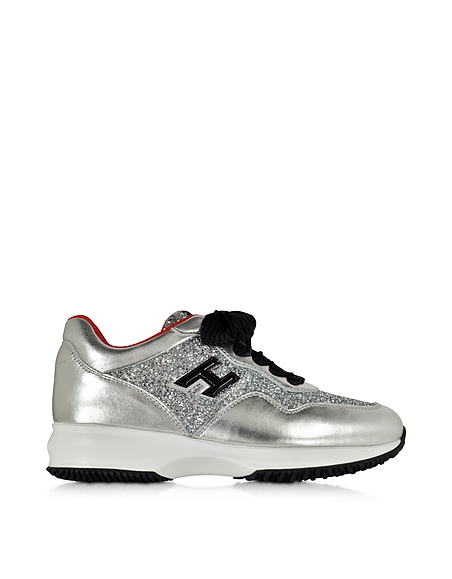 Foto Hogan Hogan Club Sneaker Donna in Pelle Silver Argento Scarpe