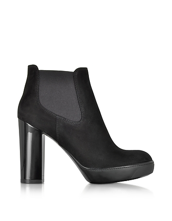 Hogan - Opty Black Suede Ankle Boots