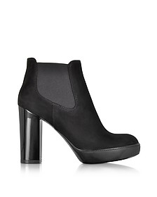 Opty Black Suede Ankle Boots - Hogan