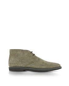 Club Brown Suede Lace-up Shoe - Hogan