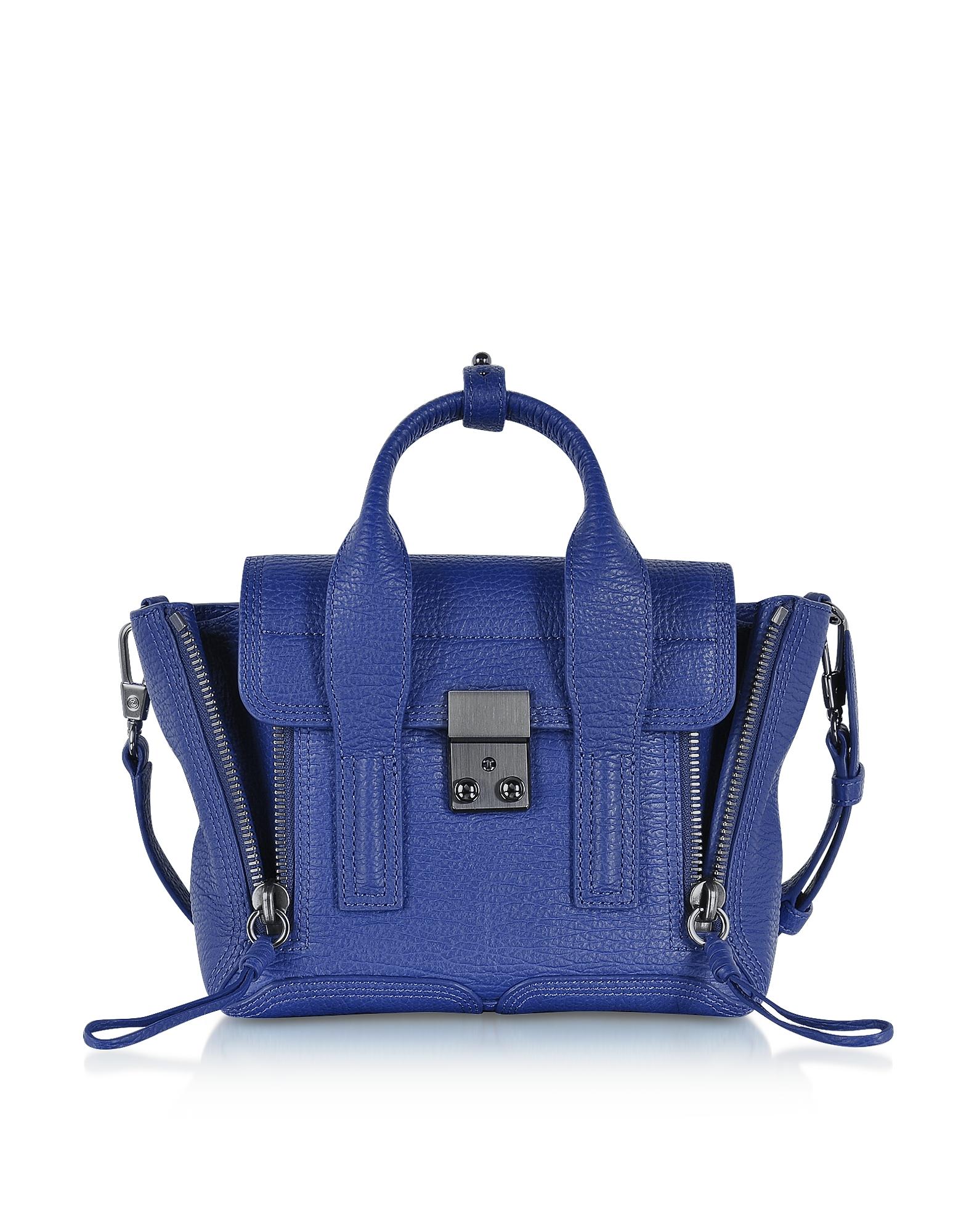 Cobalt Pashli Mini Satchel, Blue