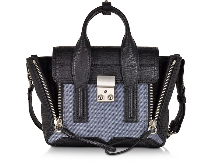 Denim Black Pashli Mini Satchel - 3.1 Phillip Lim / フィリップ リム