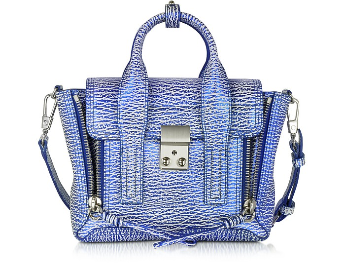 White & Royal Blue Pashli Mini Satchel - 3.1 Phillip Lim