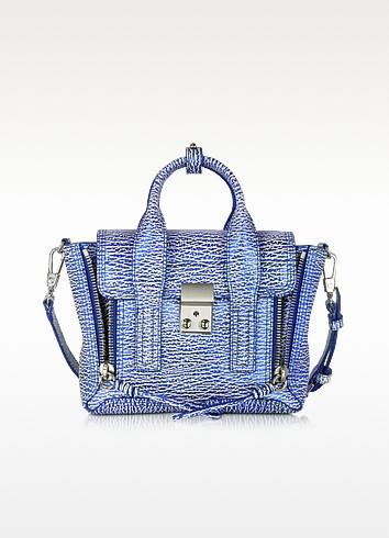 White & Royal Blue Pashli Mini Satchel - 3.1 Phillip Lim