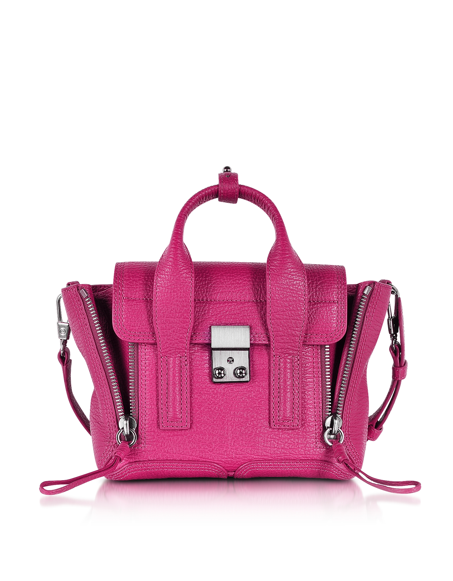 3.1 Phillip Lim Handbags, Pashli Magenta Leather Mini Satchel