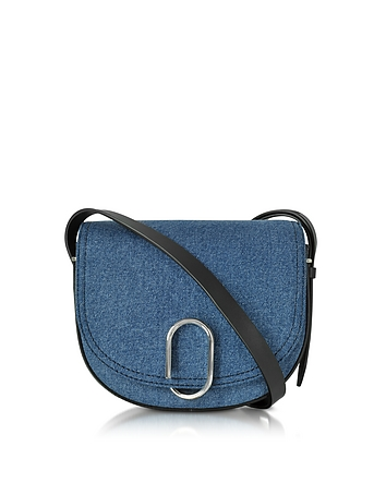 3.1 Phillip Lim - Alix Washed Indigo and Black Saddle Crossbody