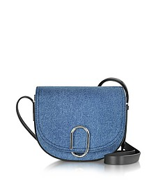 Alix Washed Indigo and Black Saddle Crossbody - 3.1 Phillip Lim