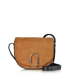 Alix Maple Suede and Black Leather Saddle Crossbody - 3.1 Phillip Lim
