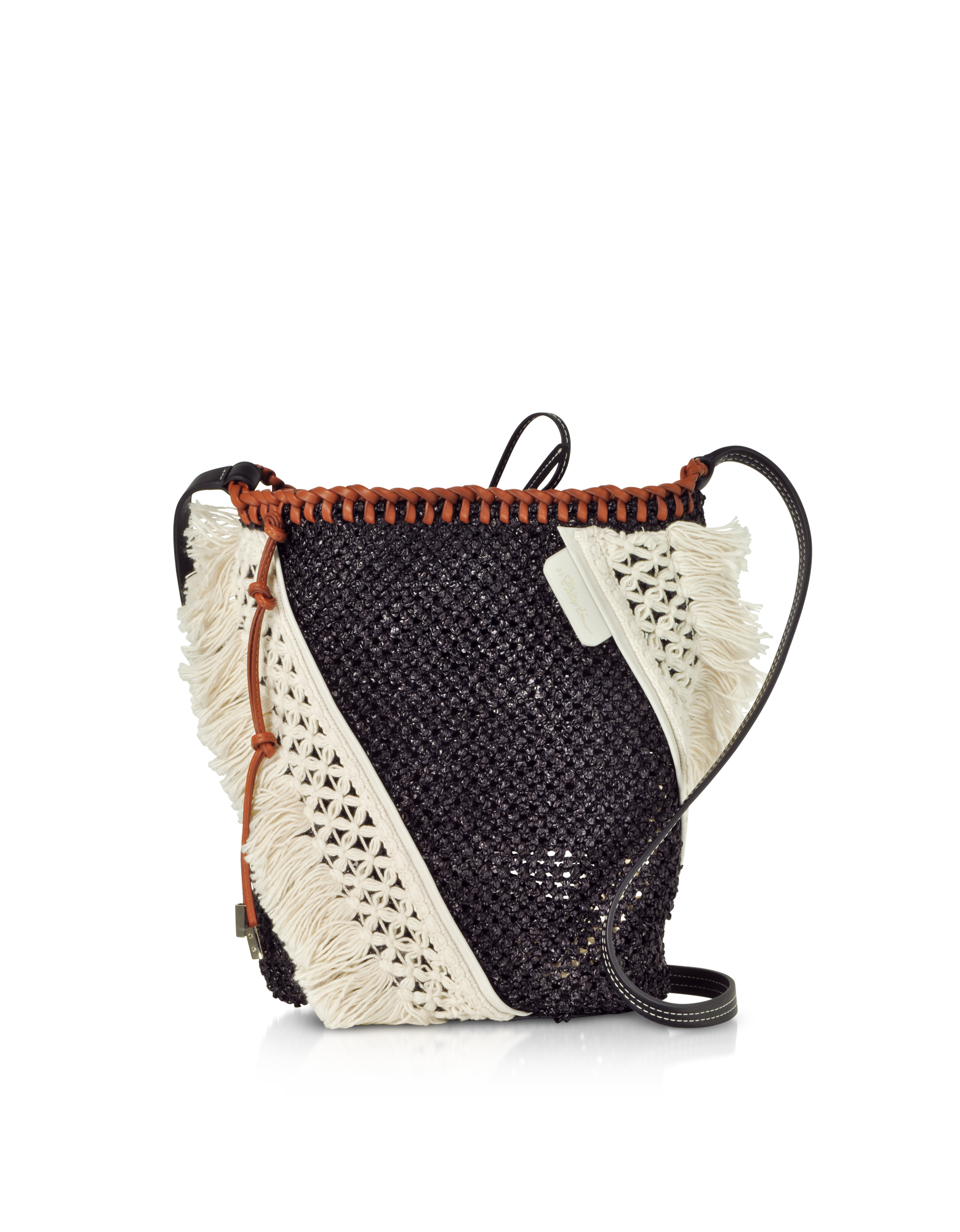 Image of Black and Cognac Marlee Mini Cross-Body