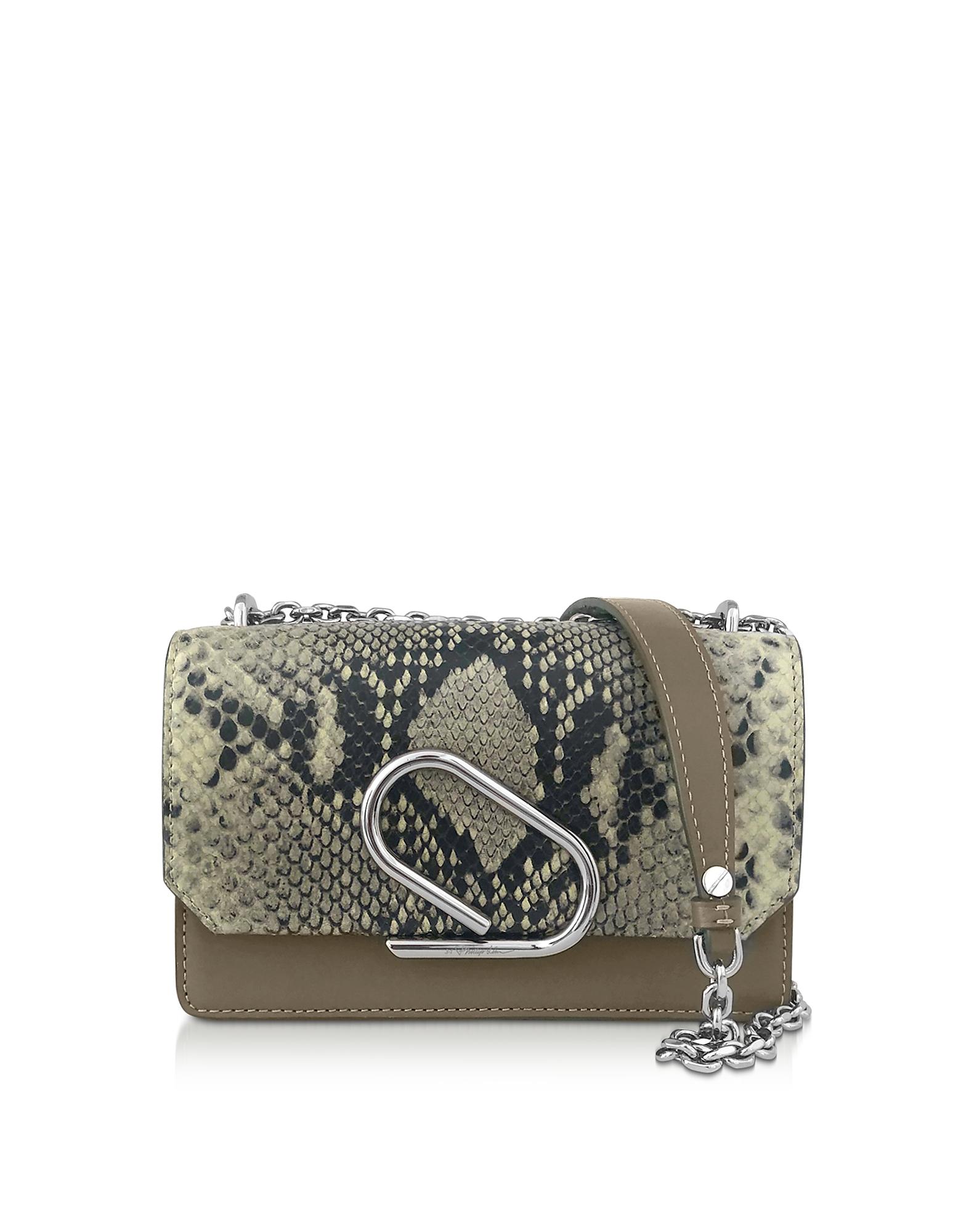 3.1 Phillip Lim  Handbags Animal Printed Leather Alix Chain Clutch