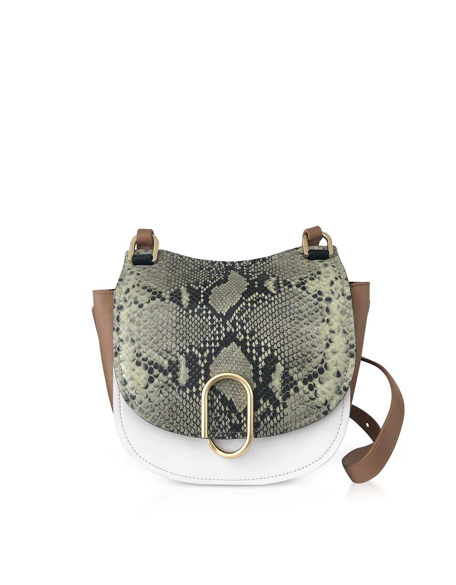 3.1 Phillip Lim  Handbags Animal Printed Leather Alix Hunter Shoulder Bag