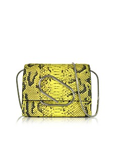 Alix Lemon Python Print Leather Micro Crossbody Bag - 3.1 Phillip Lim