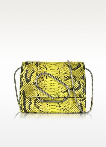 Alix Lemon Anaconda Print Leather Micro Crossbody Bag - 3.1 Phillip Lim