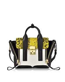 Pashli Lemon Python Print and Colorblock Leather Mini Satchel Bag - 3.1 Phillip Lim