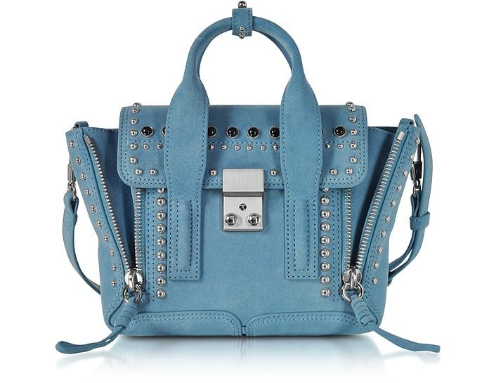 Pashli French Blue Suede Mini Satchel Bag w/Studs - 3.1 Phillip Lim