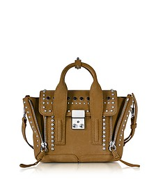 Pashli Dark Mustard Suede Mini Satchel Bag w/Studs - 3.1 Phillip Lim