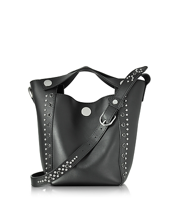 3.1 Phillip Lim - Dolly Black Leather Small Tote w/Studs