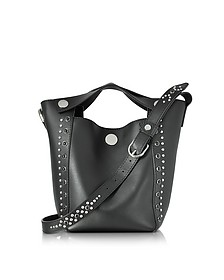 Dolly Black Leather Small Tote w/Studs - 3.1 Phillip Lim