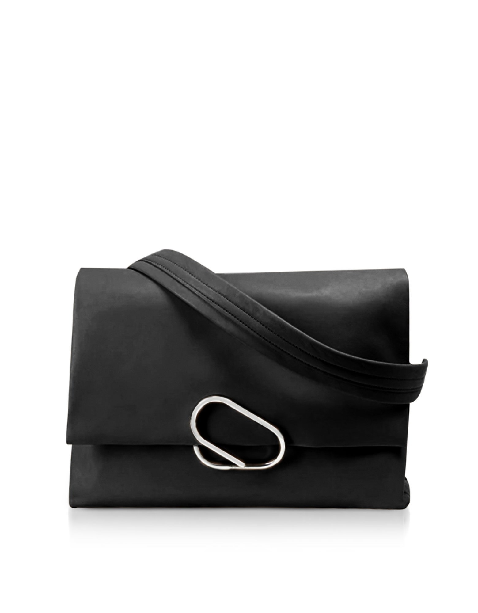 3.1 Phillip Lim Handbags, Alix Oversized Black Leather Shoulder Bag
