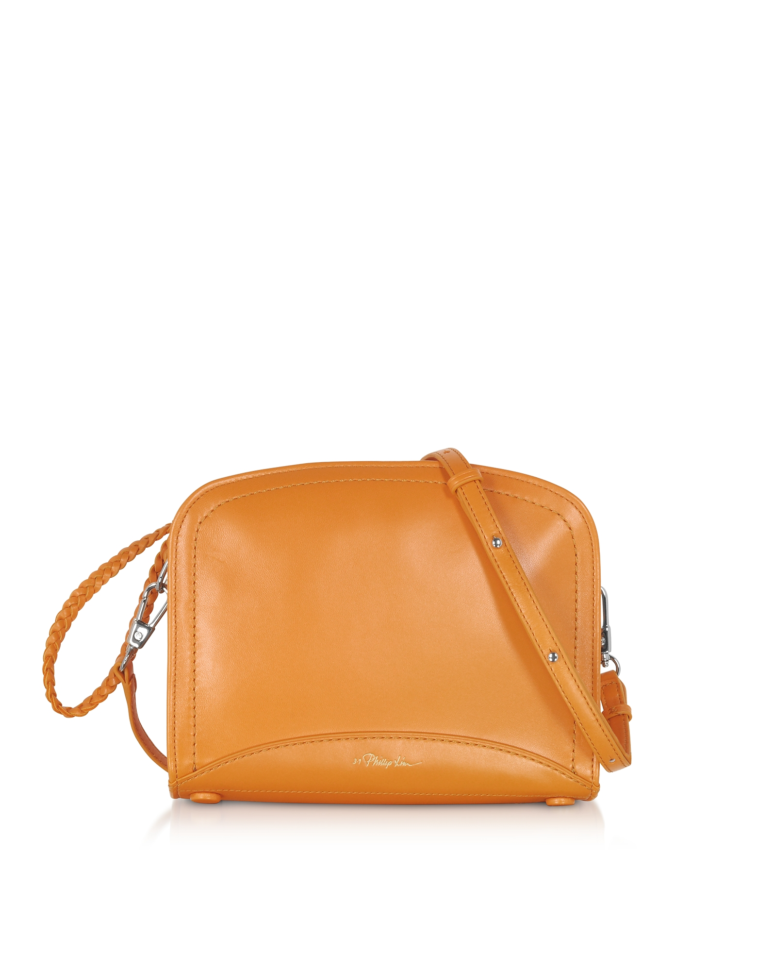 Hudson Small Rectangle Crossbody Bag, Saffron