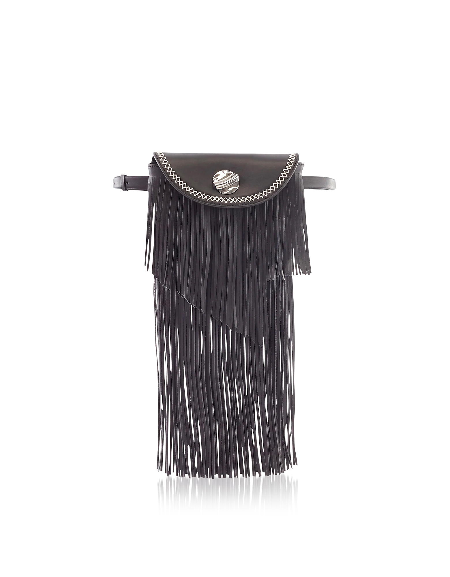 Hudson Sunglasses Case Crossbody Bag w/Fringe, Black