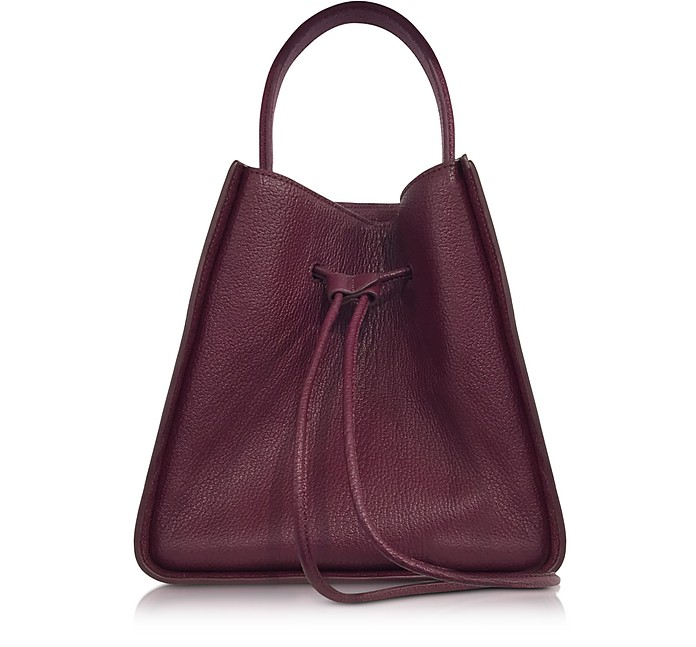 Burgundy Soleil Small Bucket Drawstring Bag - 3.1 Phillip Lim