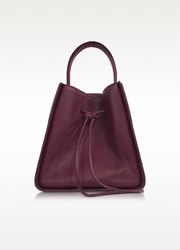 Burgundy Soleil Small Bucket Drawstring Bag - 3.1 Phillip Lim