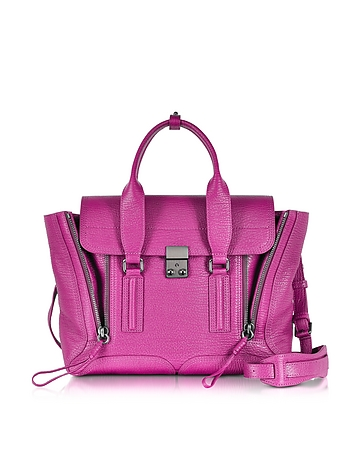 3.1 Phillip Lim Pashli Medium Satchel Borsa in Pelle Fucsia