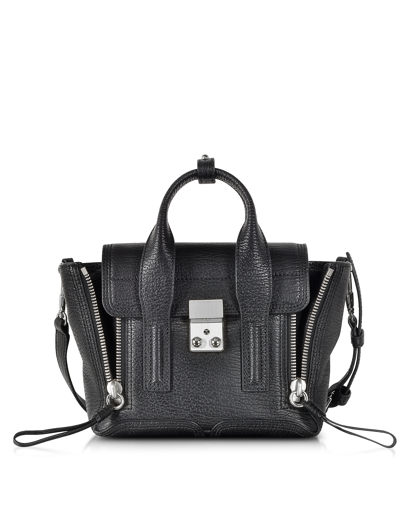 3.1 Phillip Lim Designer Handbags, Black Pashli Mini Satchel (888824187233 Luggage & Bags) photo
