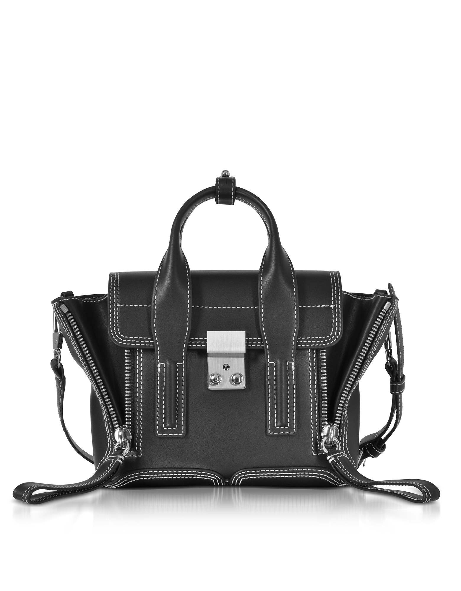 3.1 Phillip Lim Handbags, Pashli Black Leather Mini Satchel Bag